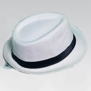 Accessories - NWT White Hat with Black Strip